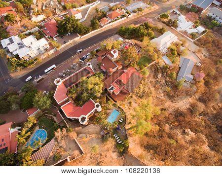 Namibia: Windhoek aerial photo of Heinitzburg Castle