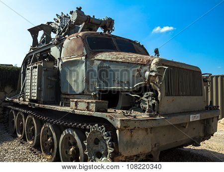 Soviet Btm High Speed Ditching Machine. Latrun, Israel