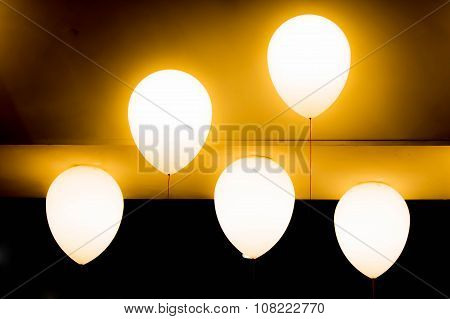 Five Balloon Incandescent Or Bulb For Decorate