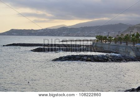 View Of The Sunset, The Ligurian Riviera, Santo Stefano Al Mare