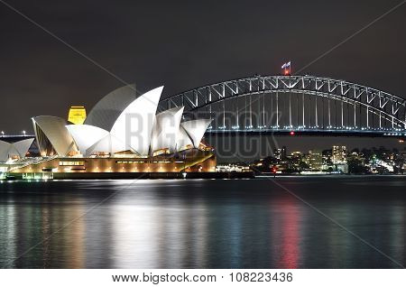 The Sydney Opera House night scenery
