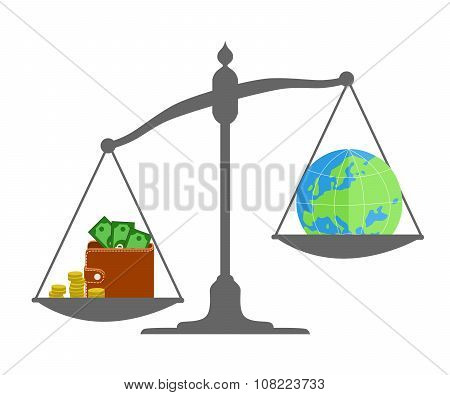 Money And Globe