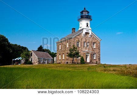 Sheffield Island Lighthouse In Norwalk, Ct