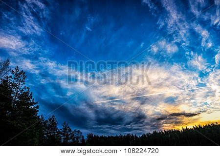Sunrise sky