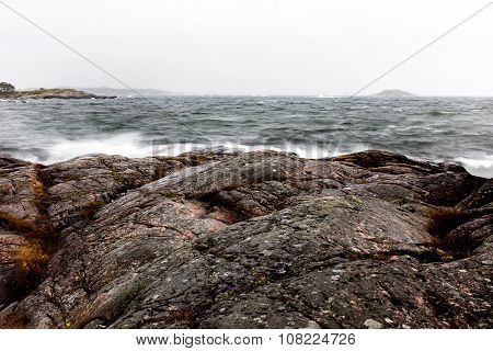 Archipelago in bad weather