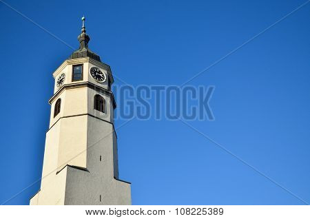 Clock Tower And Blue Sky