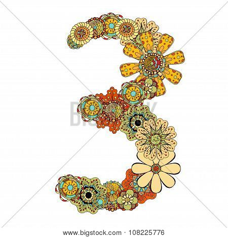Decorative Number Three