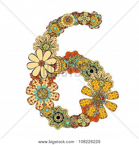 Decorative Number Six