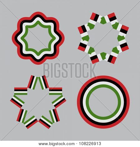 UAE National Day Celebration. Set of various vector design elements.
