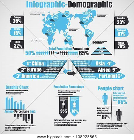 Infographic Demographic New Style 10 Heavenly