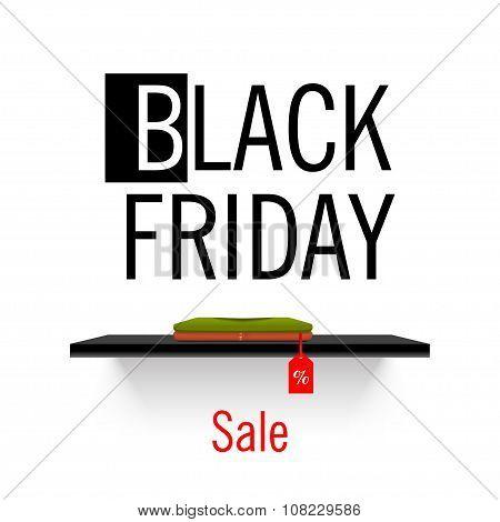 Vector. Black Friday sales. Shelf store.