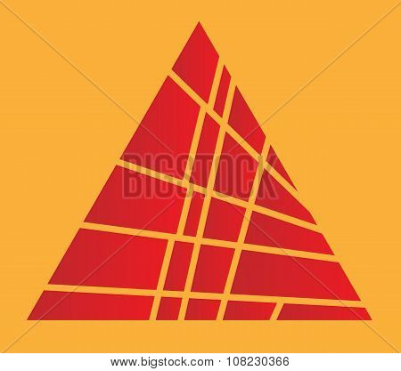 Sliced Red Pyramid