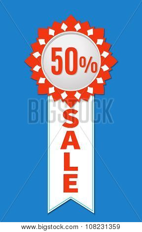 Sale Sticker with place for text. Design element
