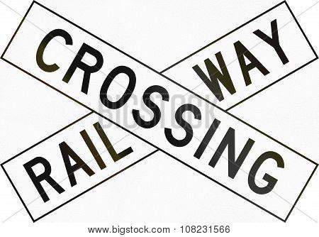New Zealand Road Sign Pw-14 - Railway Crossbuck