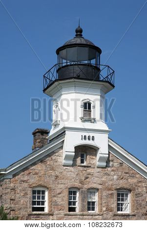 Sheffield Island Lighthouse Tower in Connecticut