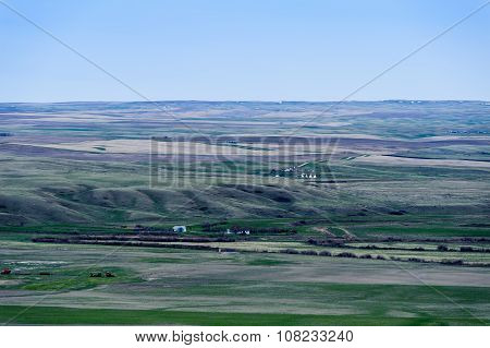 Farmland Green Fields In Grassland National Park,