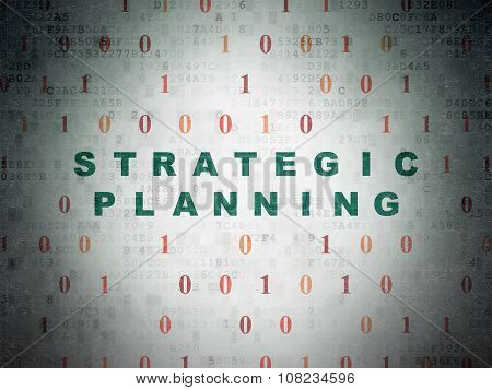 Business concept: Strategic Planning on Digital Paper background