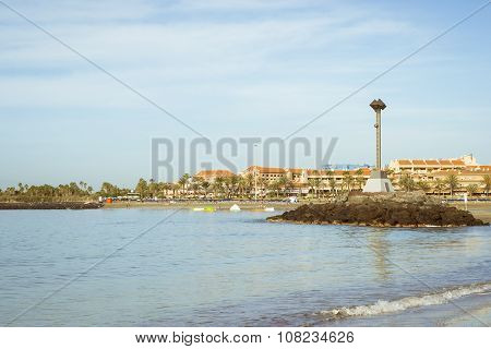 Playa De Las Vistas Beach In Los Cristianos, Tenerife, Spain