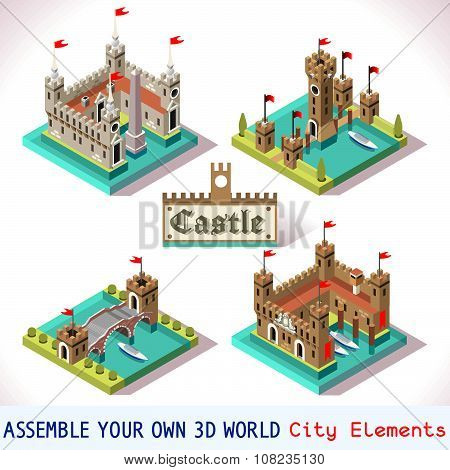 Castle 03 Tiles Isometric