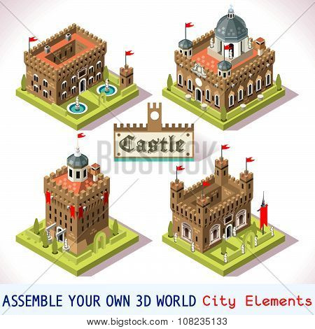 Castle 01 Tiles Isometric