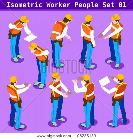 Construction 01 People Isometric