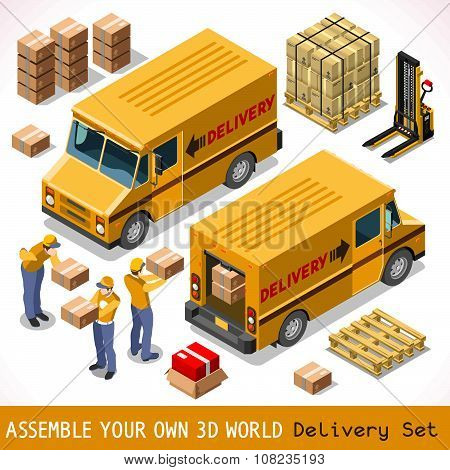 Delivery 06 Infographic Isometric
