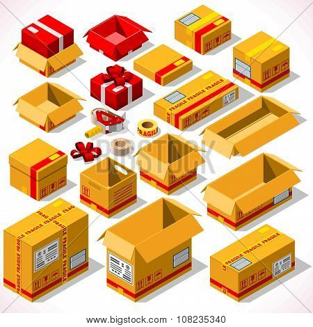 Packaging 02 Objects Isometric