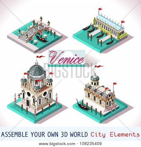 Venice 03 Tiles Isometric