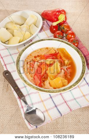 Authentic Hungarian Letcho In A Bowl