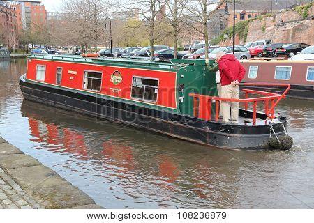 Narrowboat In England