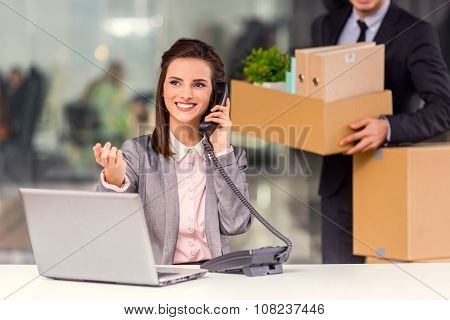 Business Moving In Office