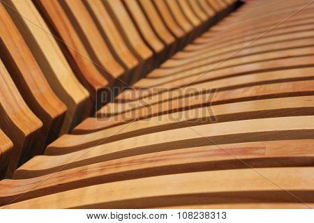 Wooden Laths On A City Shop