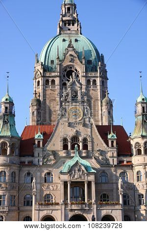 New Town Hall (rathaus) In Hanover, Germany