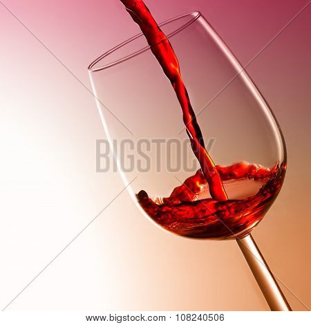 Red Wine Splashing, wine tasting concept