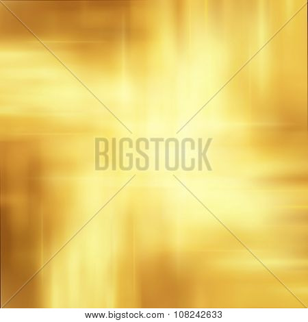 Abstract Golden Stars Background Luxury Christmas Holiday, Wedding Background Brown Frame Bright Spo