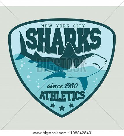 Shark sport emblem