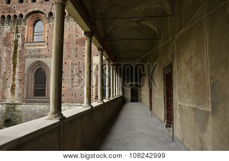 Arcade In The Castello Sforzesco