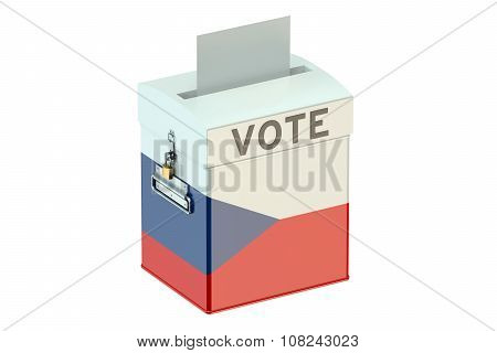 Voting Concept With Flag Of Czech Republic On Ballot Box
