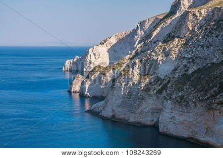 Cliff Coast On Zakynthos Island
