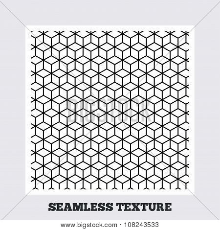 Cubes geometric seamless pattern.