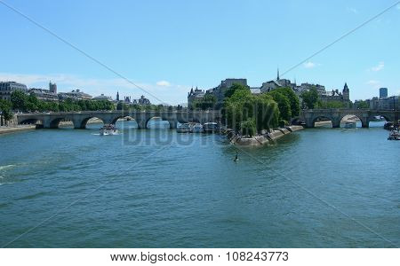 The river Seine in Paris, France