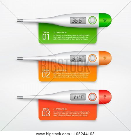 Medical thermometer infographic