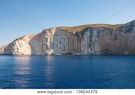 Beutiful Cliff Coast Of Zakynthos Island
