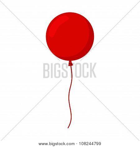 Balloon isolated icon. Colorful balloon. Red balloon.