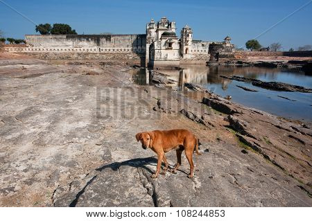 Historical Padmini Palace Of The Chittorgarh Fort. Unesco World Heritage Site