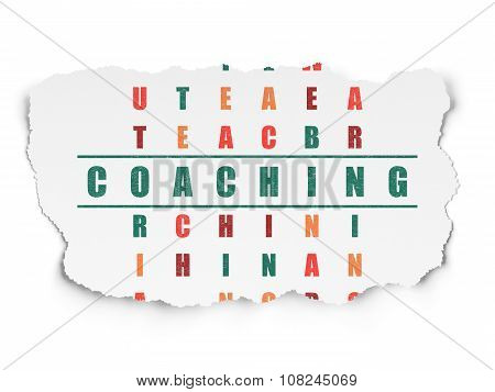 Learning concept: Coaching in Crossword Puzzle