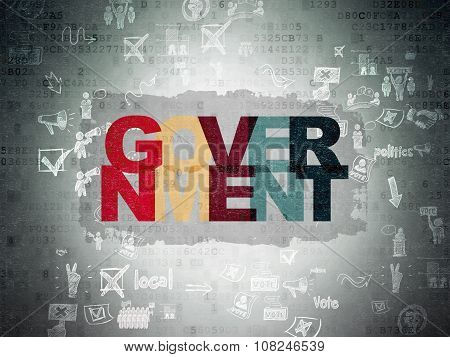 Political concept: Government on Digital Paper background