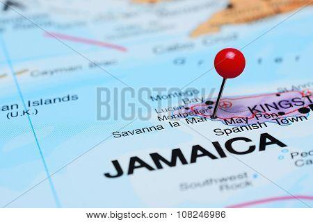 Savanna la Mar pinned on a map of America
