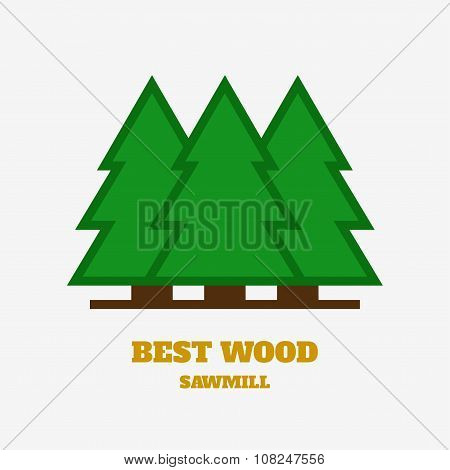 Timber industry and woodwork logo.