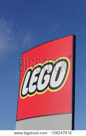Lego logo in Billund